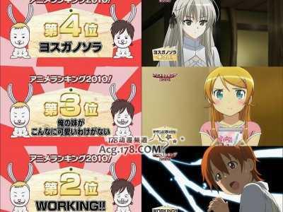 """日本无码 日本""""高清无码""""频道AT-X2010年动画收视率Top10"""